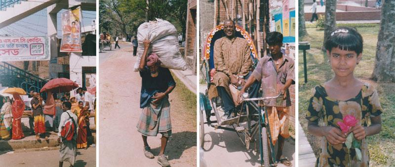 Elämää Bangladeshin kaduilla, oikealla Lily.